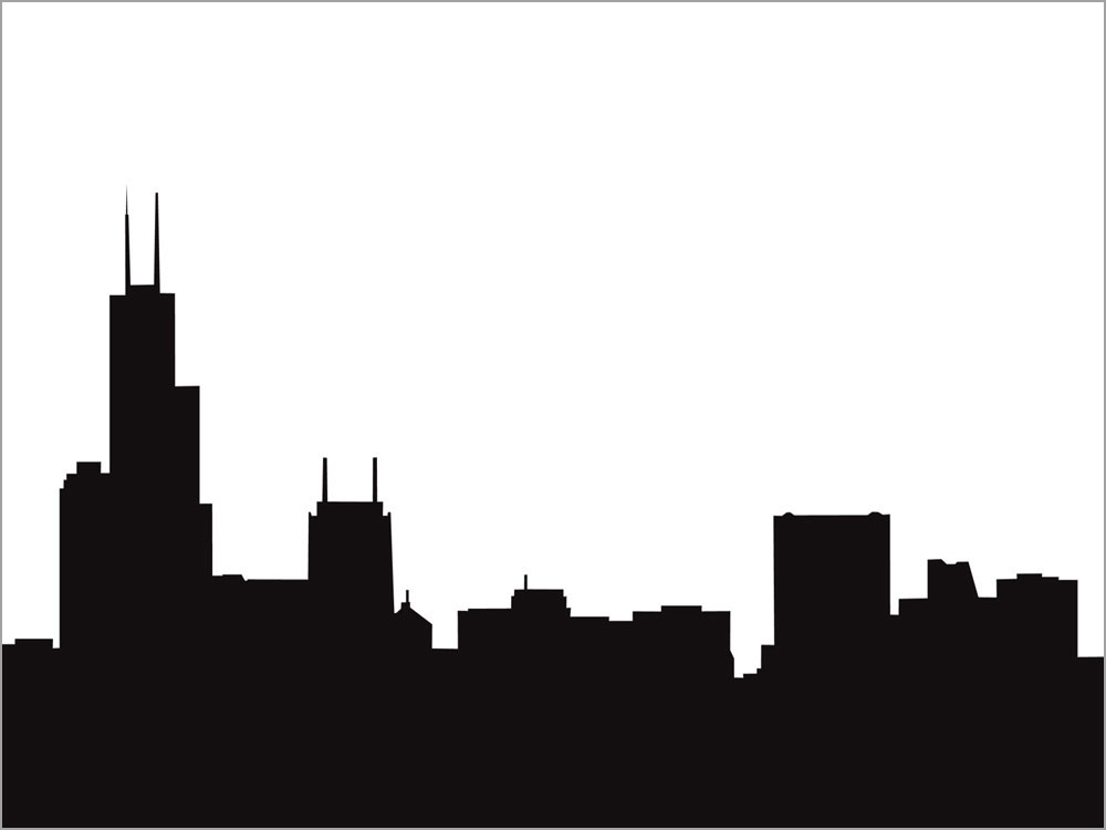 1000x750 Free Chicago Skyline Clipart Image