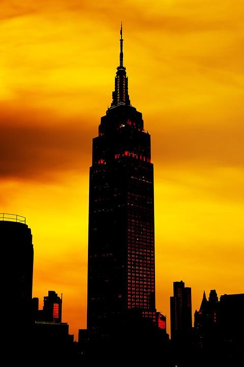 480x720 Free Photo Silhouette City Skyline New York Sunset
