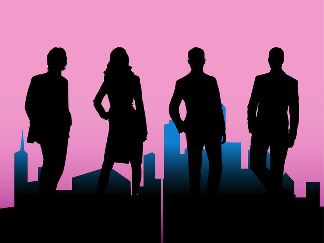 647x485 Business People Silhouettes With Cityscape Stock Images Page