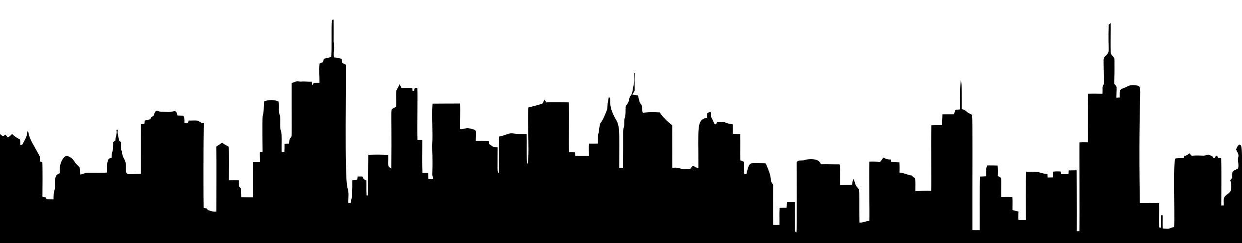 2560x501 Generic Cityscape Silhouette 3 Clipart