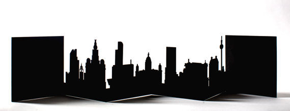 570x219 Liverpool Cityscape Silhouette Skyline Card