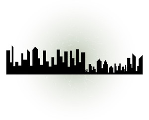 300x242 Cityscape Silhouette Royalty Free Stock Image