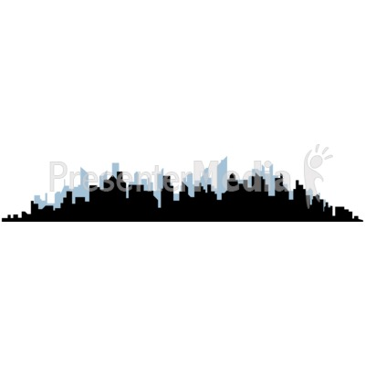 400x400 Cityscape Silhouette And Backdrop