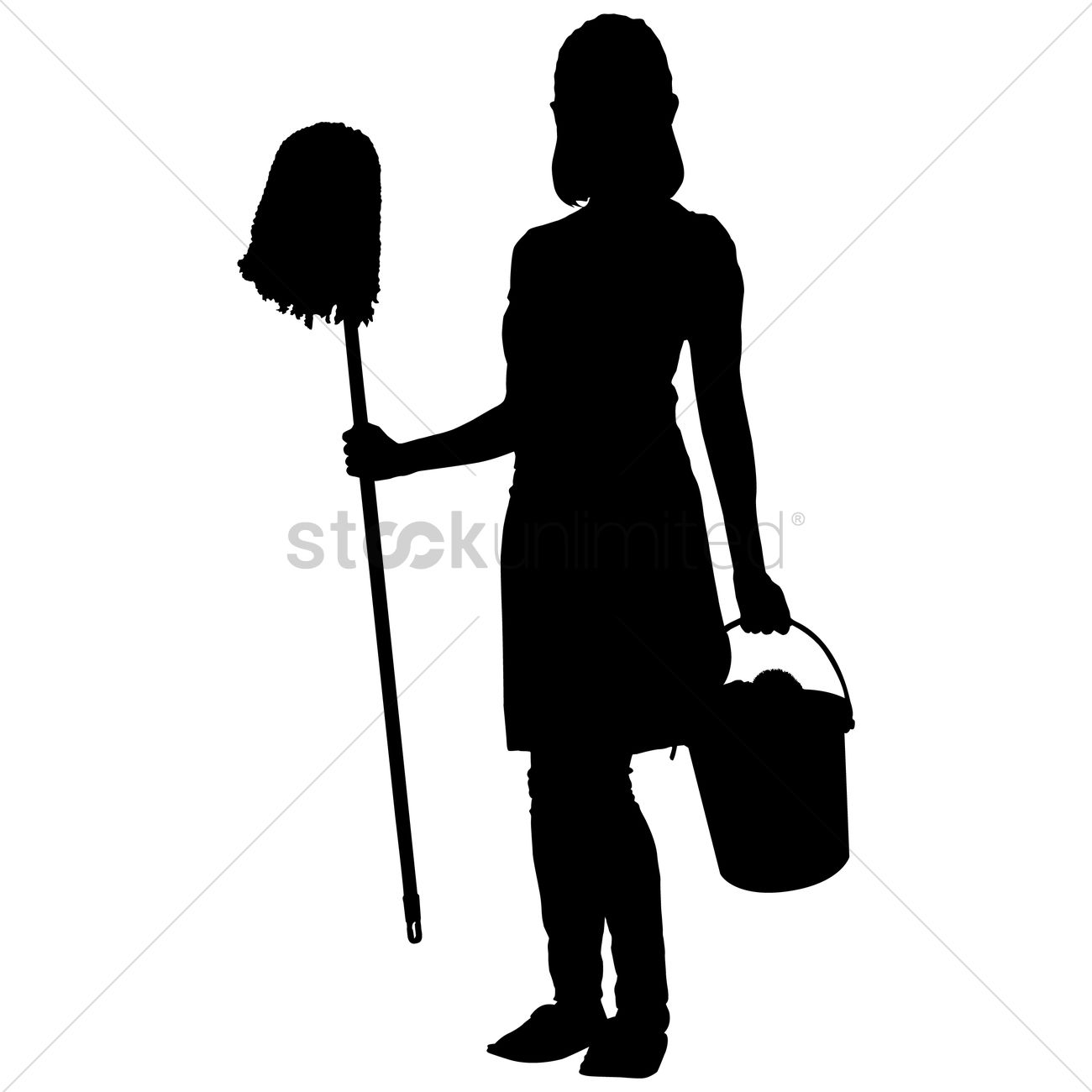 1300x1300 Silhouette Of A Woman Vector Image