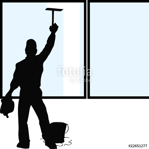 500x500 Silhouette Window Cleaner Stock Image And Royalty Free Vector