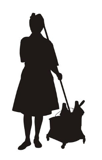 211x330 Cleaning Lady Silhouette 2 Decal Sticker