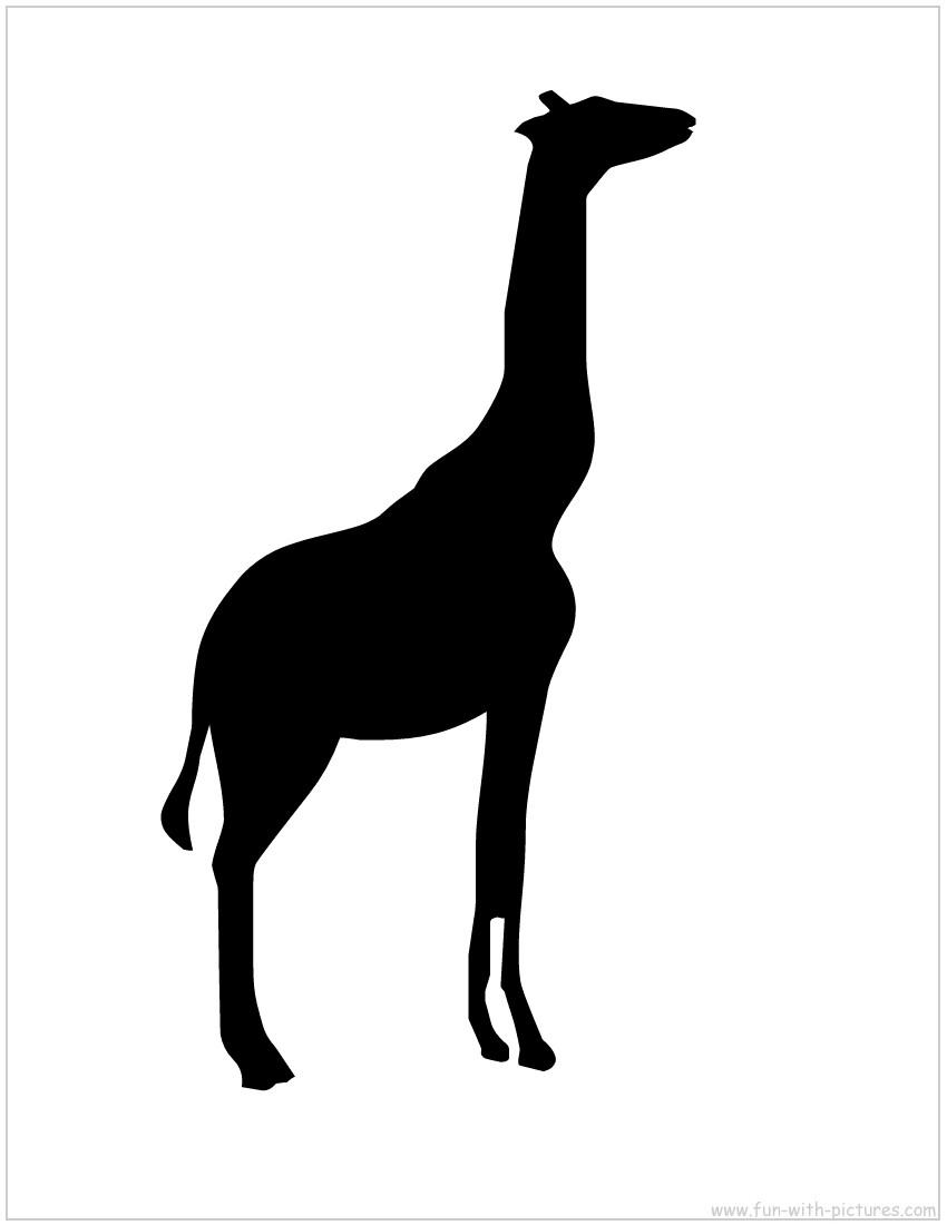850x1100 Giraffe Silhouette Clip Art Clipart Panda
