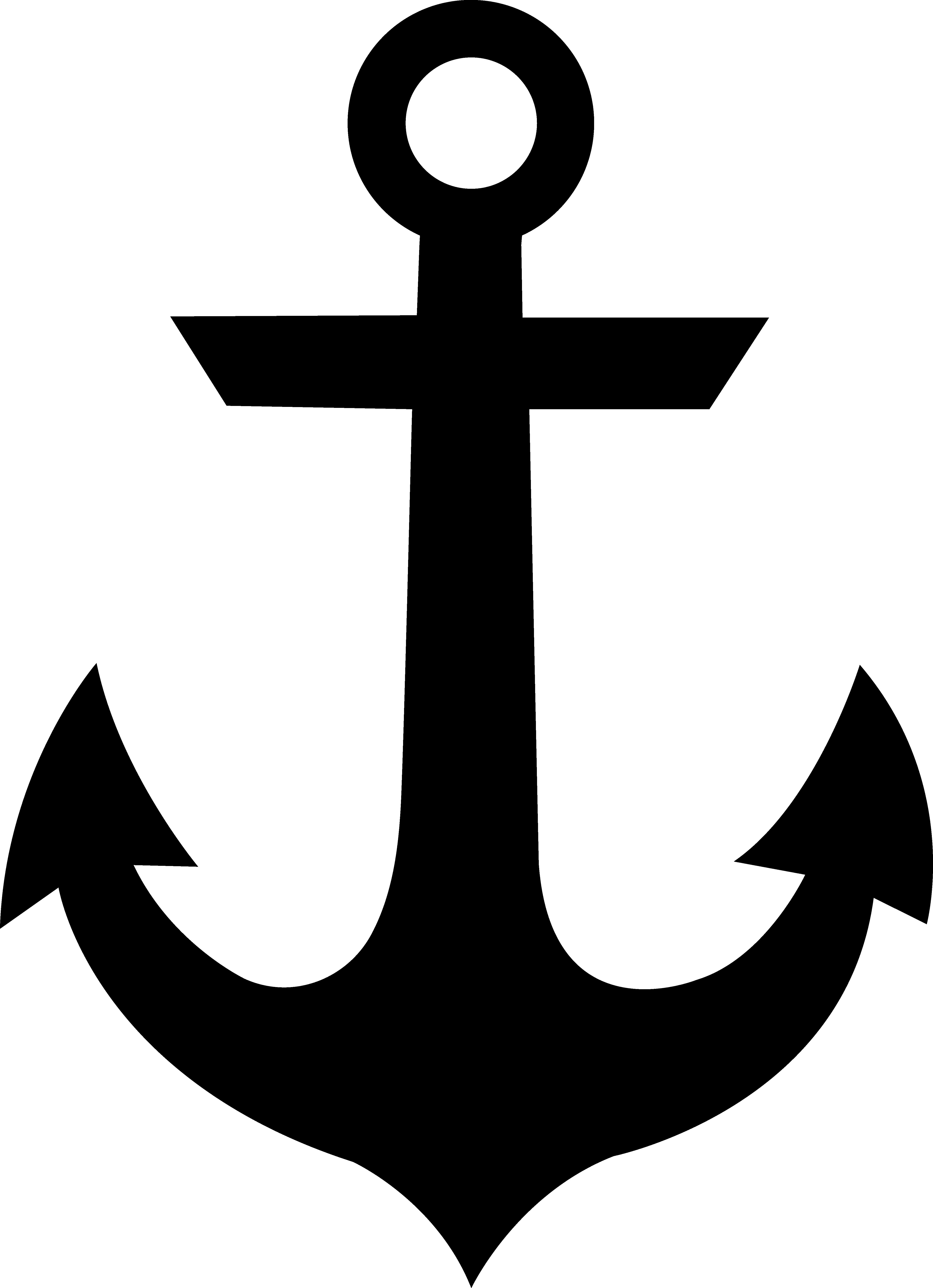 4826x6660 Black Anchor Silhouette