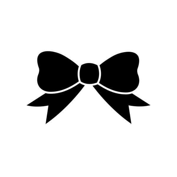 600x600 Black Ribbon Silhouette Free Clip Art Liked On Polyvore