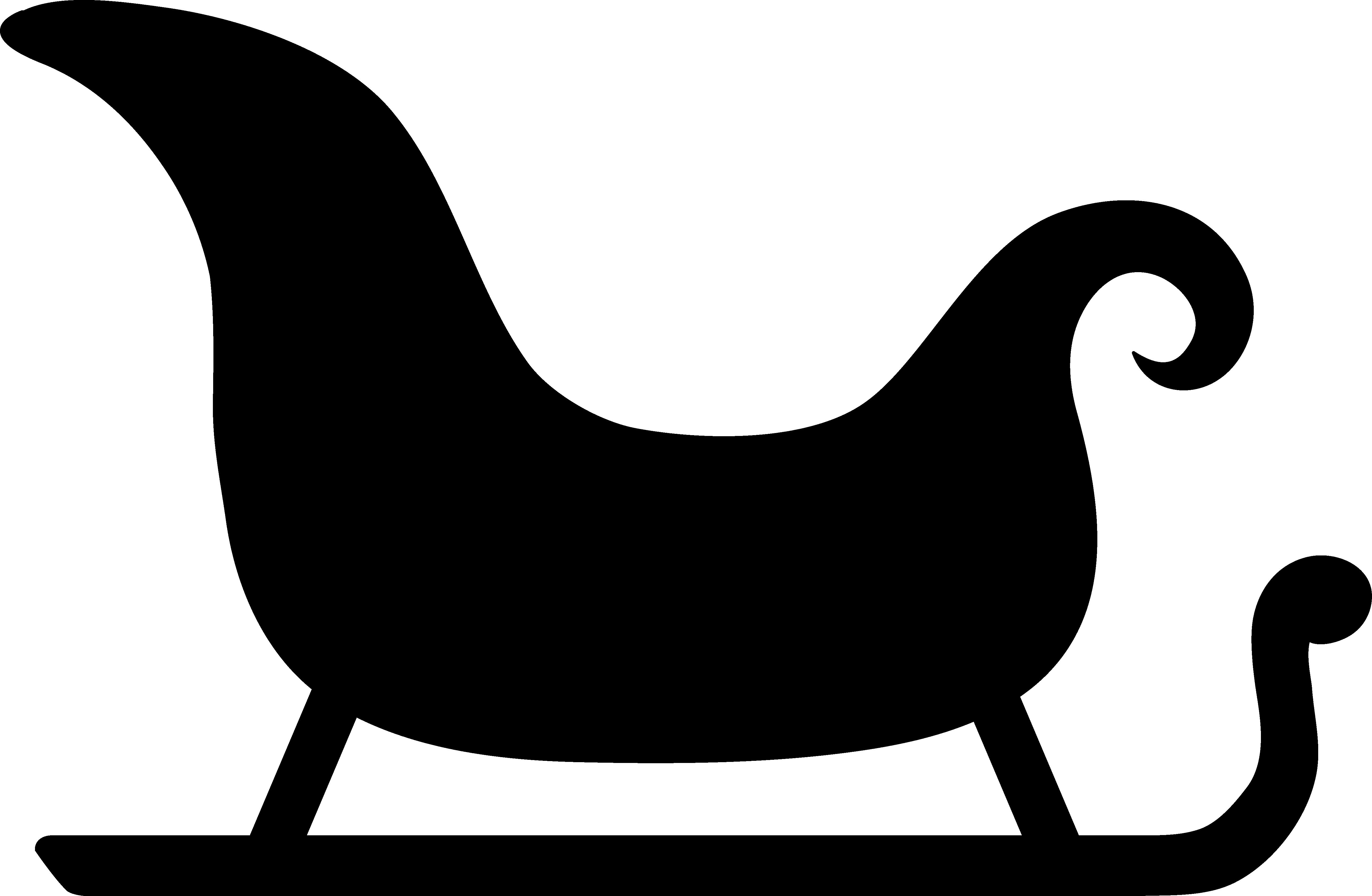 5175x3381 Simple Sleigh Silhouette