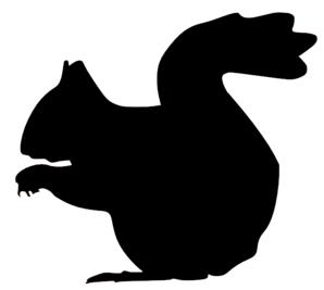 298x267 Squirrel Silhouette Clip Art