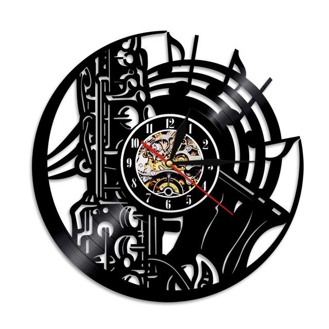 640x640 1piece Music Instrument Vinyl Record Wall Clock Home Decor