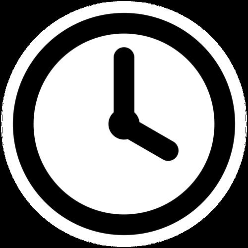 500x500 Clock's Silhouette Public Domain Vectors