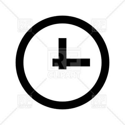 400x400 Clock Silhouette Royalty Free Vector Clip Art Image