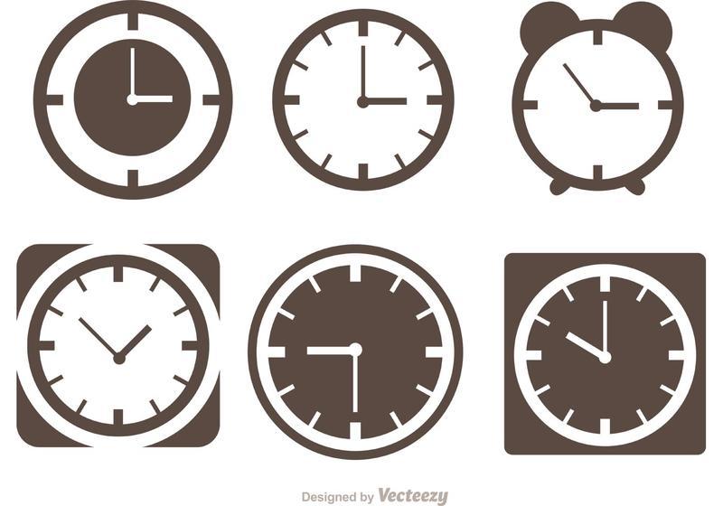 800x560 Desktop Clock Silhouette Vectors