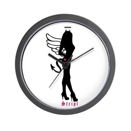 460x460 Devil Silhouette Girl Wall Clocks