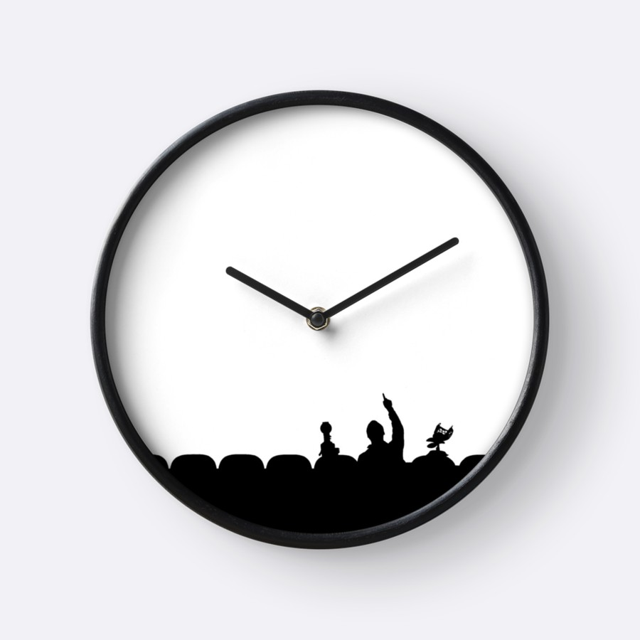 900x900 Mst3k Silhouette Clocks By Crucej Redbubble
