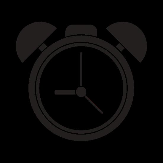 550x550 Silhouette Alarm Clock