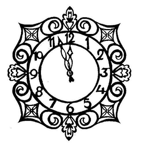 492x500 Cinderella Clock To Color Inkspired Musings More Cinderella