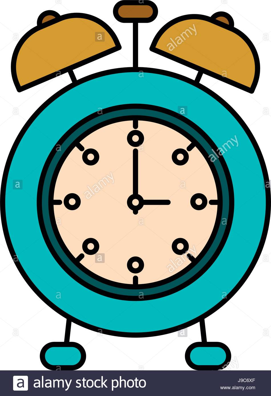 950x1390 Colorful Silhouette Image Alarm Clock Stock Vector Art