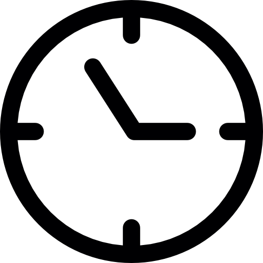 512x512 Minute, Alarm, Alarm Clock, Silhouette, Hour, Watch, Technology Icon