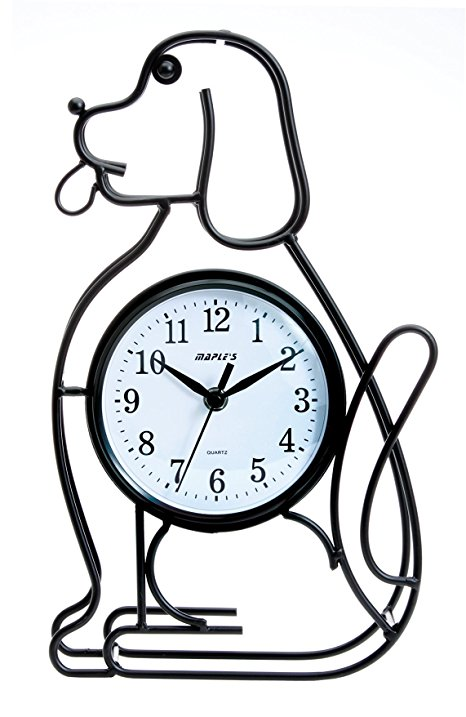 466x717 Maple's Dog Silhouette Table Clock Home Amp Kitchen