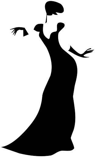 312x521 Black Dress Clipart Prom Dress