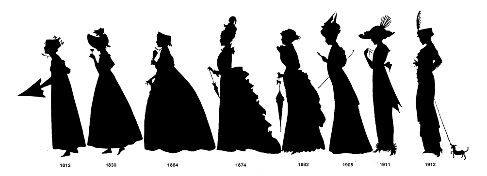 1004x364 19th Century Clothing Clipart Clipartqueen's Blog
