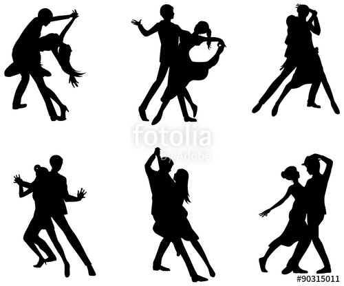 500x416 A Silhouette Icon Set Of Dancing Couple Sport For Man Woman
