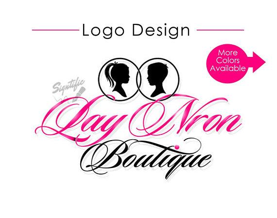 570x448 Custom Logo Design Pink Black Boutique Logo Website Logo