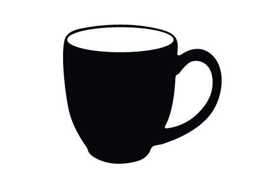 550x354 Coffee Mug Silhouette Vector