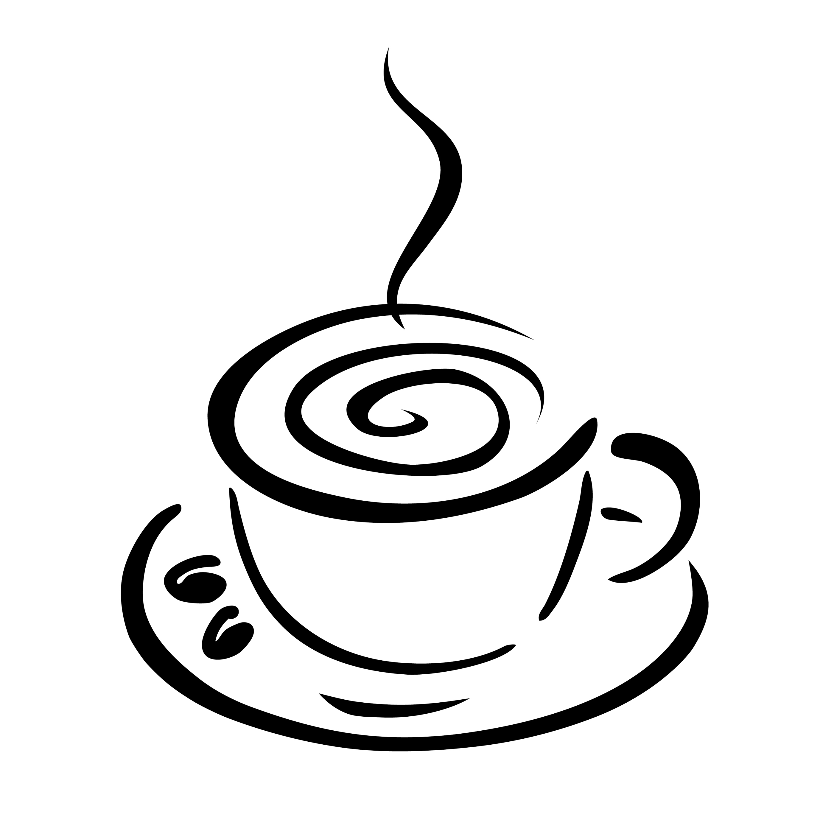 2800x2800 Drawn Coffee Silhouette Png Many Interesting Cliparts