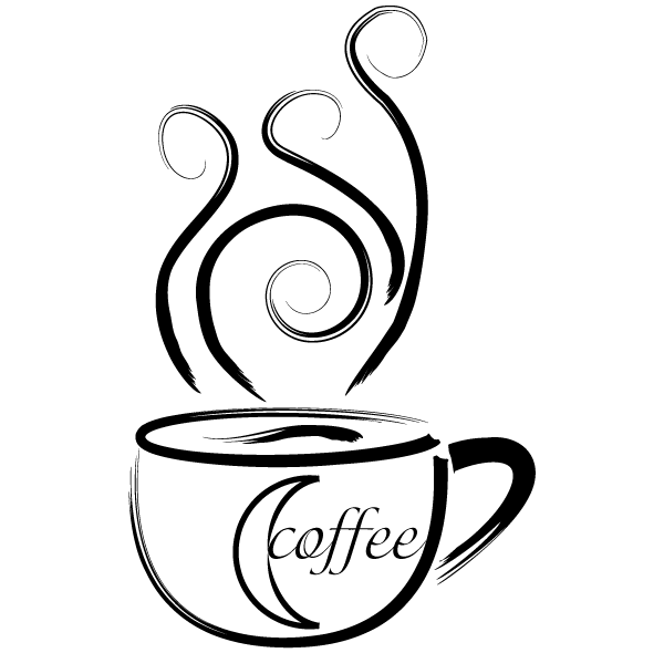 600x590 Drawn Coffee Silhouette Png