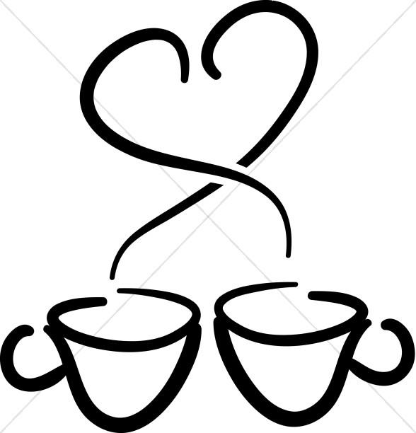 588x612 Coffee Cup Cartoon Clipart