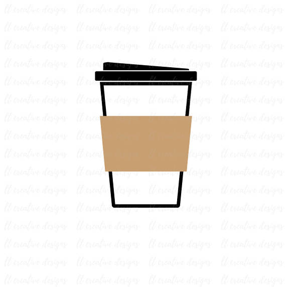 570x572 Coffee Cup Svg Coffee Cup To Go Svg Silhouette Files Cricut