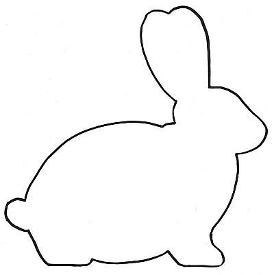 400x401 Easter Bunny Templates, Silhouette Coloring Pages, Printables