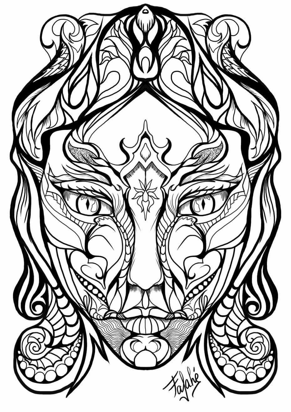 930x1316 Pin By Leila Fathii On Art Is Adult Coloring