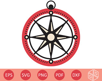 340x270 Compass Silhouette Etsy