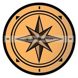 264x264 Compass Silhouette Cut File Travel