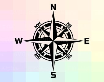 340x270 Vector Compass Etsy