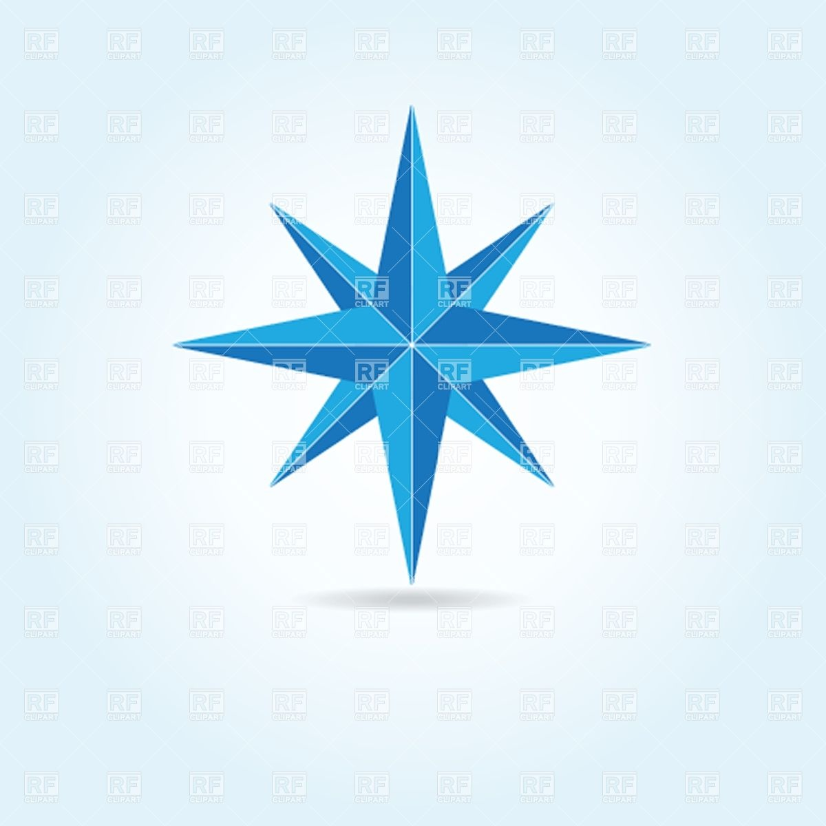 1200x1200 Wind Rose Compass Silhouette Royalty Free Vector Clip Art Image