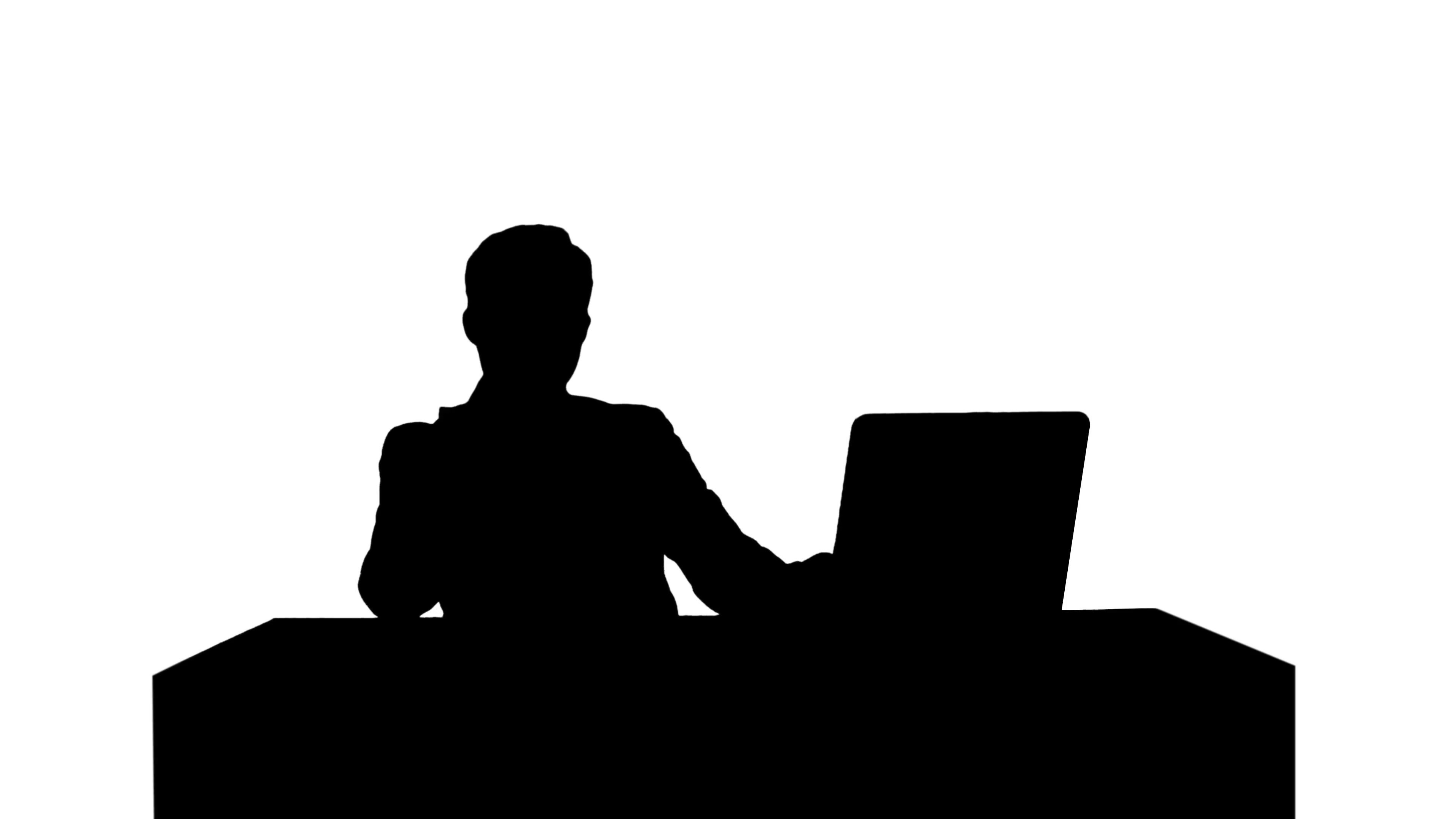 3840x2160 Silhouette Portrait Of A Smiling Businessman Talking On His