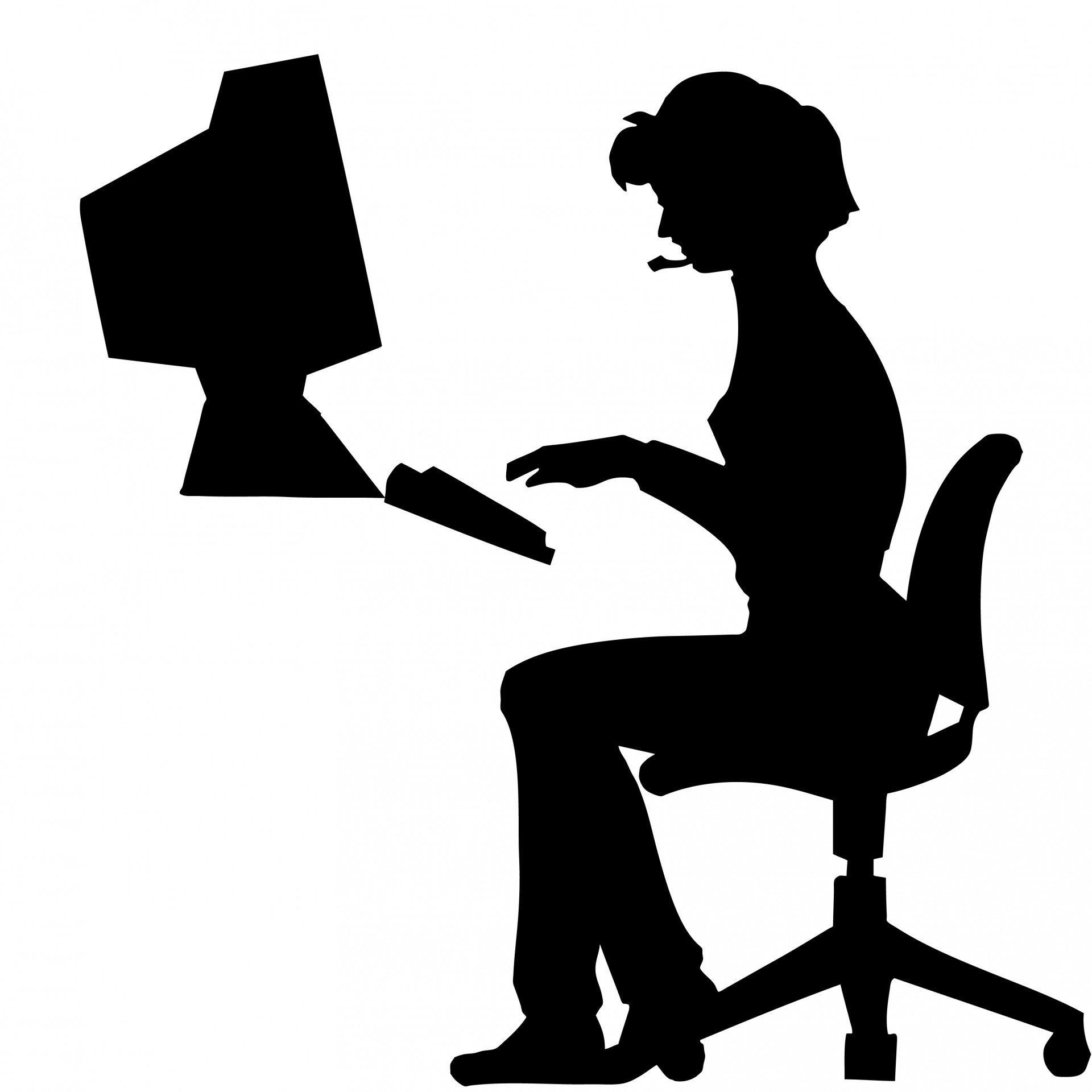 1920x1920 Woman Typing Office Computer Free Stock Photo
