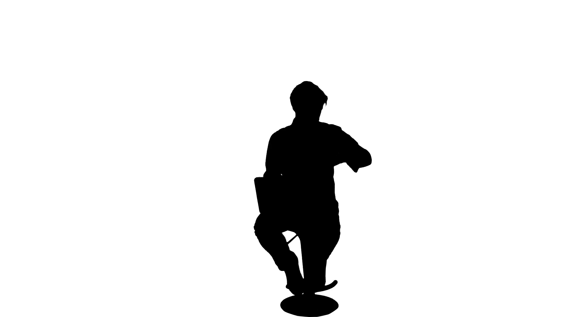 1920x1080 Working Computer Business Man Silhouette