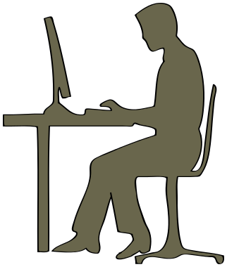 322x380 Man On Computer Silhouette