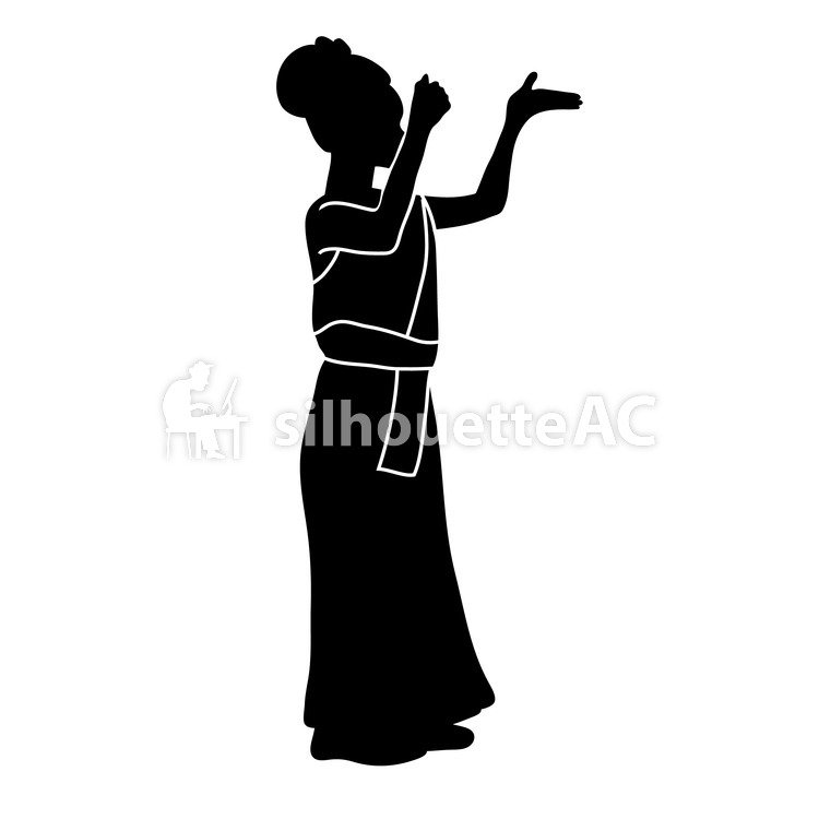 750x750 Free Silhouette Vector Icon, Asian, Ethnic
