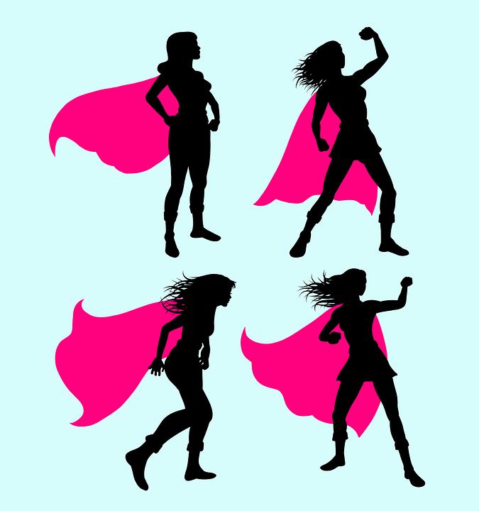 675x720 Free Photo Girl Silhouette Hero Wing Super Superhero Costume