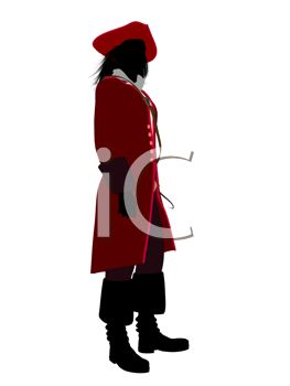 263x350 Royalty Free Clipart Image Silhouette Of A Man Wearing A Pirate