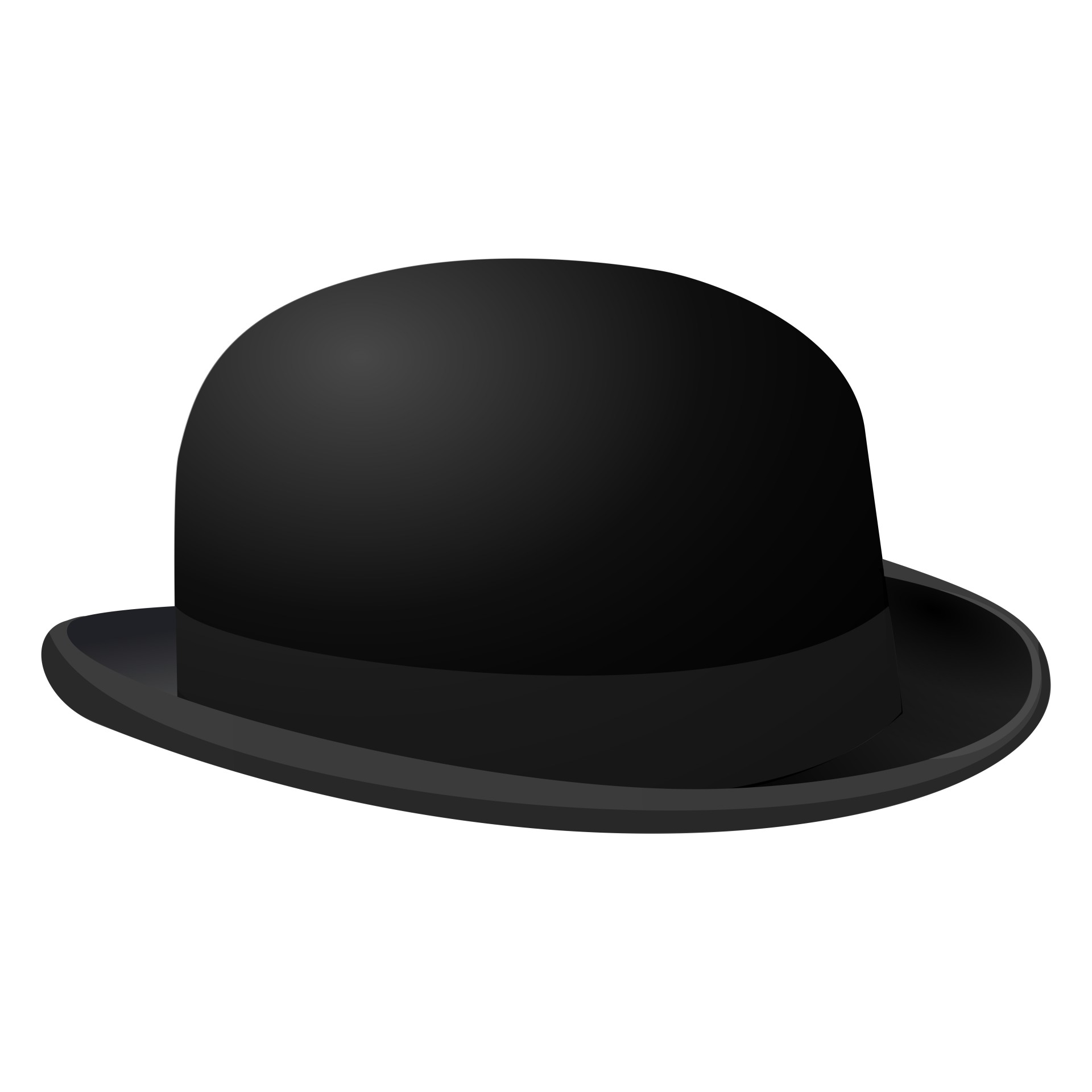 1920x1920 Silhouette Symbol Of Bowler Hat Free Stock Photo