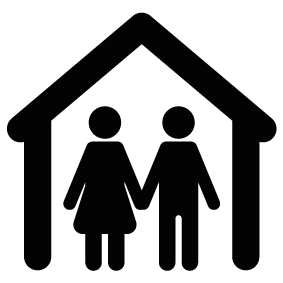 283x283 Couple Home Silhouette Silhouette Of Couple Home